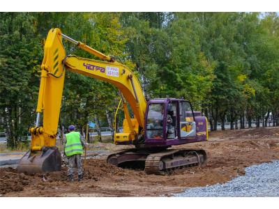 В «Новом городе» продолжается реконструкция магистральной дороги